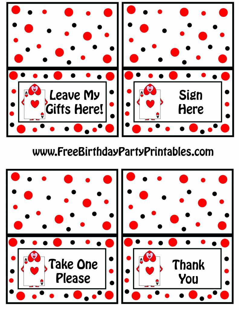 Alice In Wonderland Card Soldiers Printable Cutout | Free Printable Thank You Cards For Soldiers