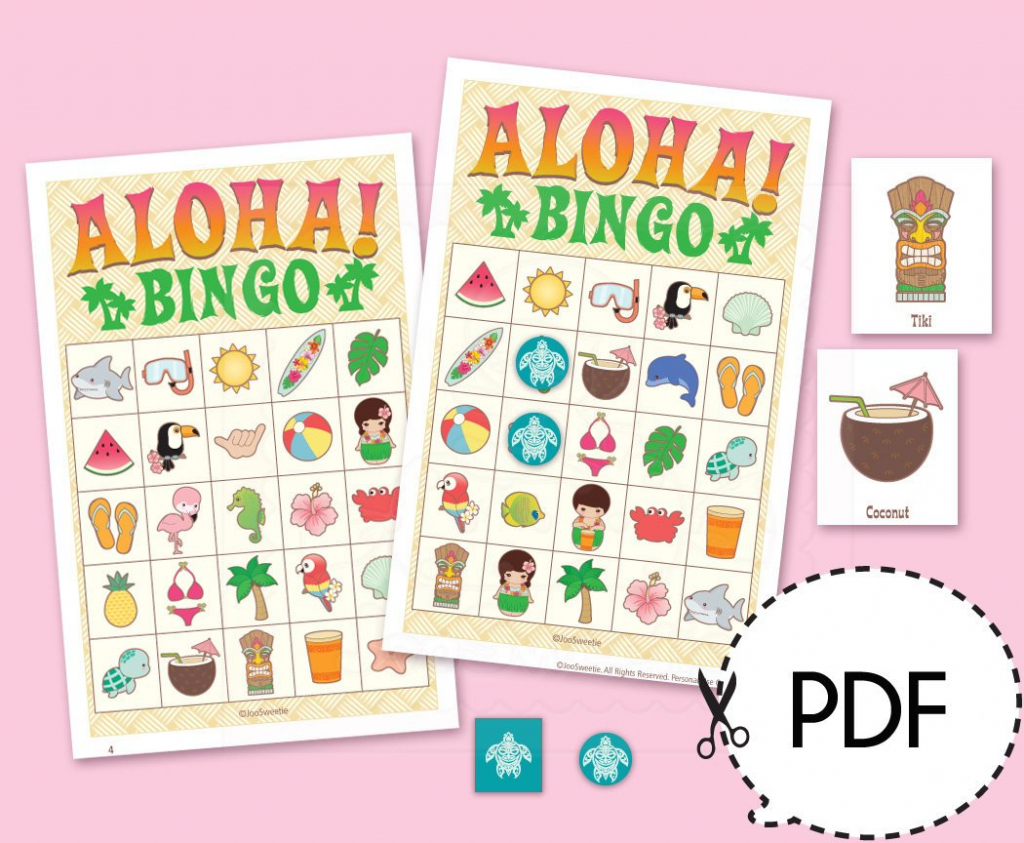 Aloha Luau Hawaii Bingo Game Kitprintable Pdf Download | Etsy | Printable Hawaiian Bingo Cards