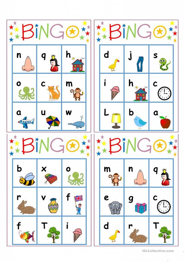 Alphabet Bingo Worksheet - Free Esl Printable Worksheets Made | Free Printable Alphabet Bingo Cards