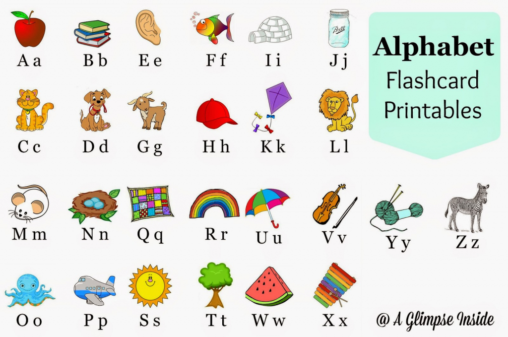 Alphabet Flashcards Printables | A Glimpse Inside | Printable Alphabet Flash Cards