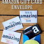 Amazon Gift Card Envelopes (Free Printable Download) | Printables | Printable Visa Gift Cards