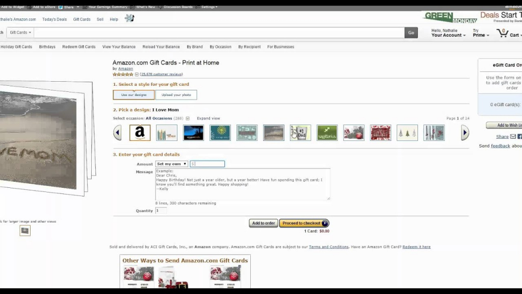 Amazon Gift Card Print At Home - Youtube | Amazon Printable Gift Card