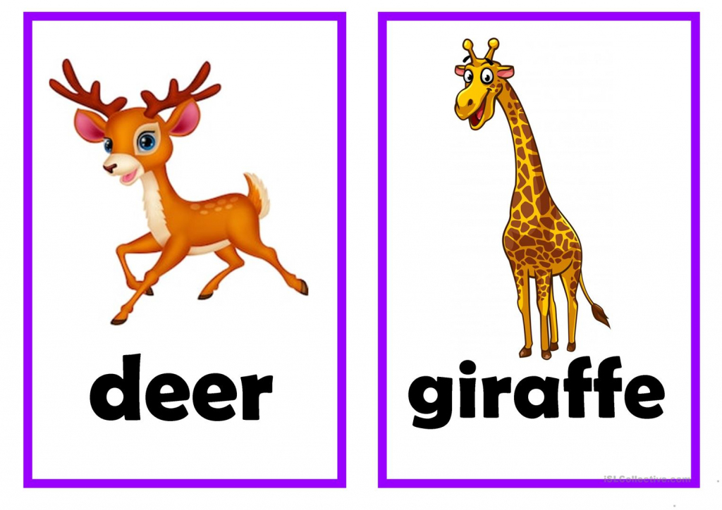Animal Flash Card Worksheet - Free Esl Printable Worksheets Made | Animal Snap Cards Printable