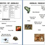 Animals And Their Characteristics (Free Worksheet)   Homeschool Den | Free Printable Animal Classification Cards