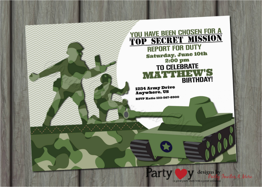 Army Birthday Invitation Cards Printable Fresh Best Party Images On | Army Birthday Cards Printable