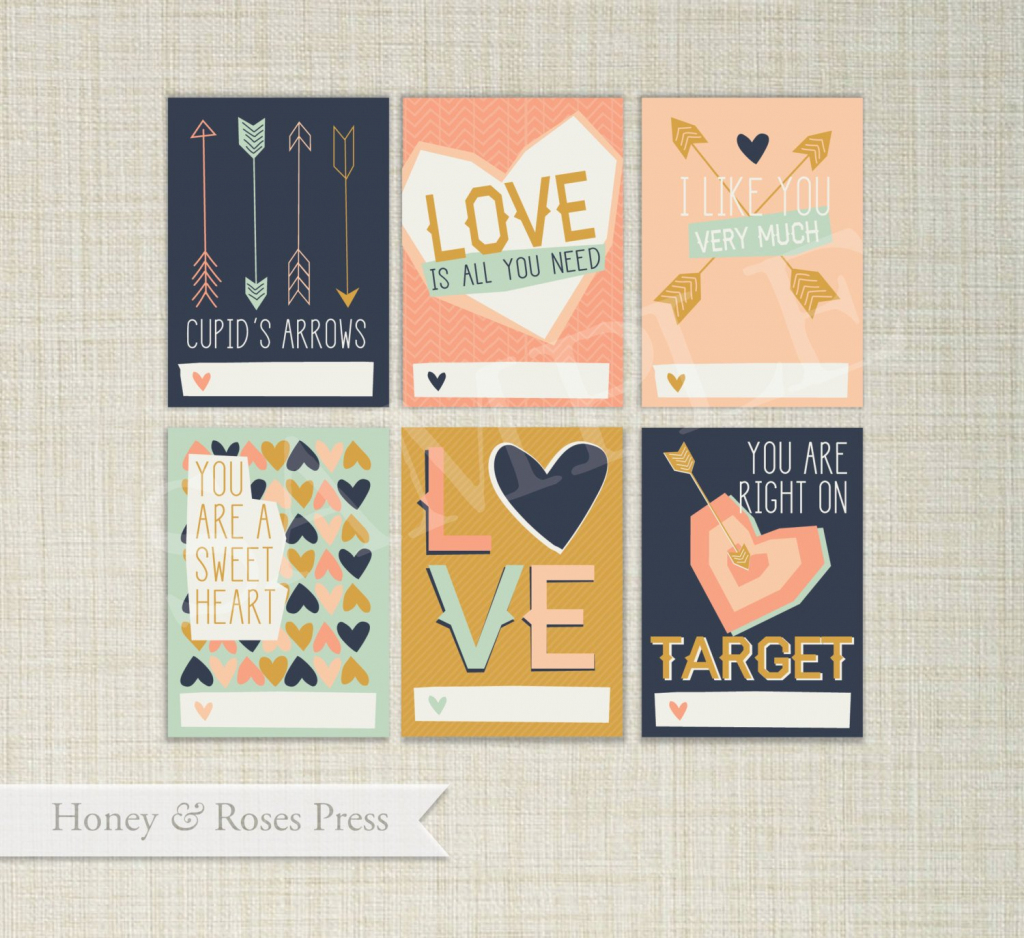 Arrow Valentine's Day Cards . Hipster Valentines . Kids | Etsy | Etsy Printable Valentines Cards