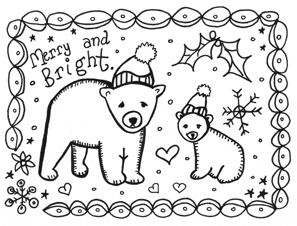 Art Is Basic-- Art Teacher Blog: Free Printable Holiday Card To Color | Printable Christmas Cards To Color