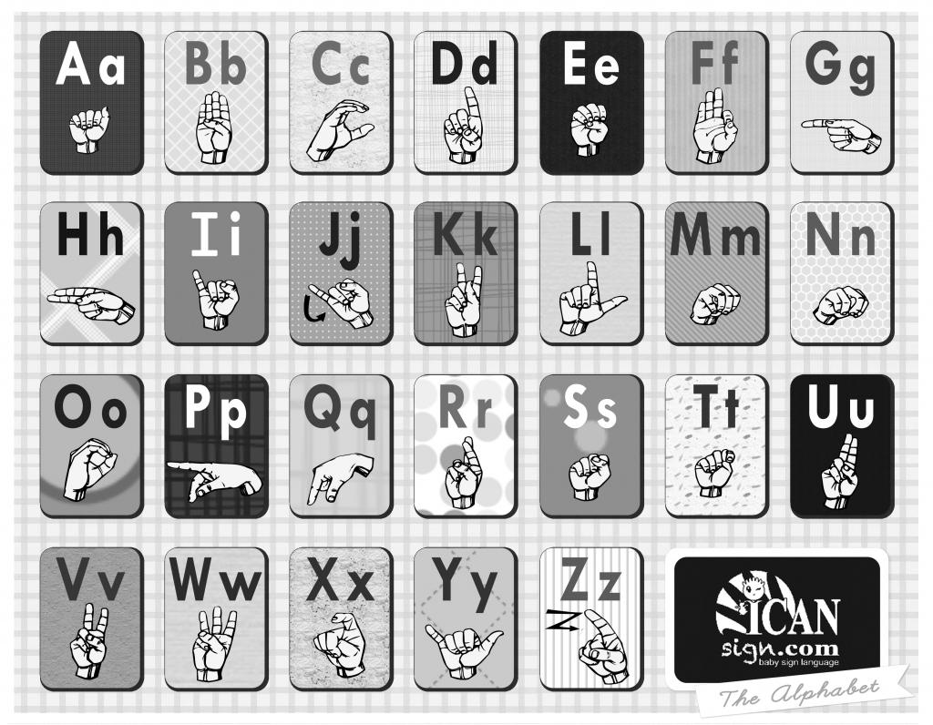 Asl Alphabet Flashcards | Baby Sign Language | Sign Language Alphabet Printable Flash Cards