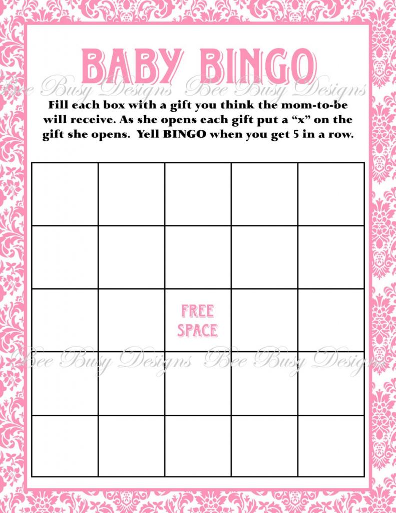 Baby Bingo Free Printable Template | Free Printables | Free Printable Baby Shower Bingo Cards