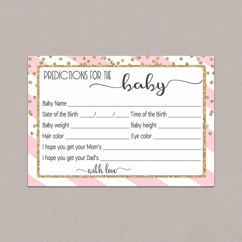 Baby Prediction Cards Baby Shower Predictions Printable | Etsy | Baby Shower Printable Prediction Cards