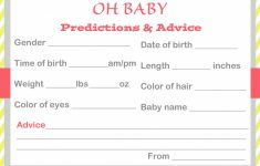 Baby Shower Printable Prediction Cards