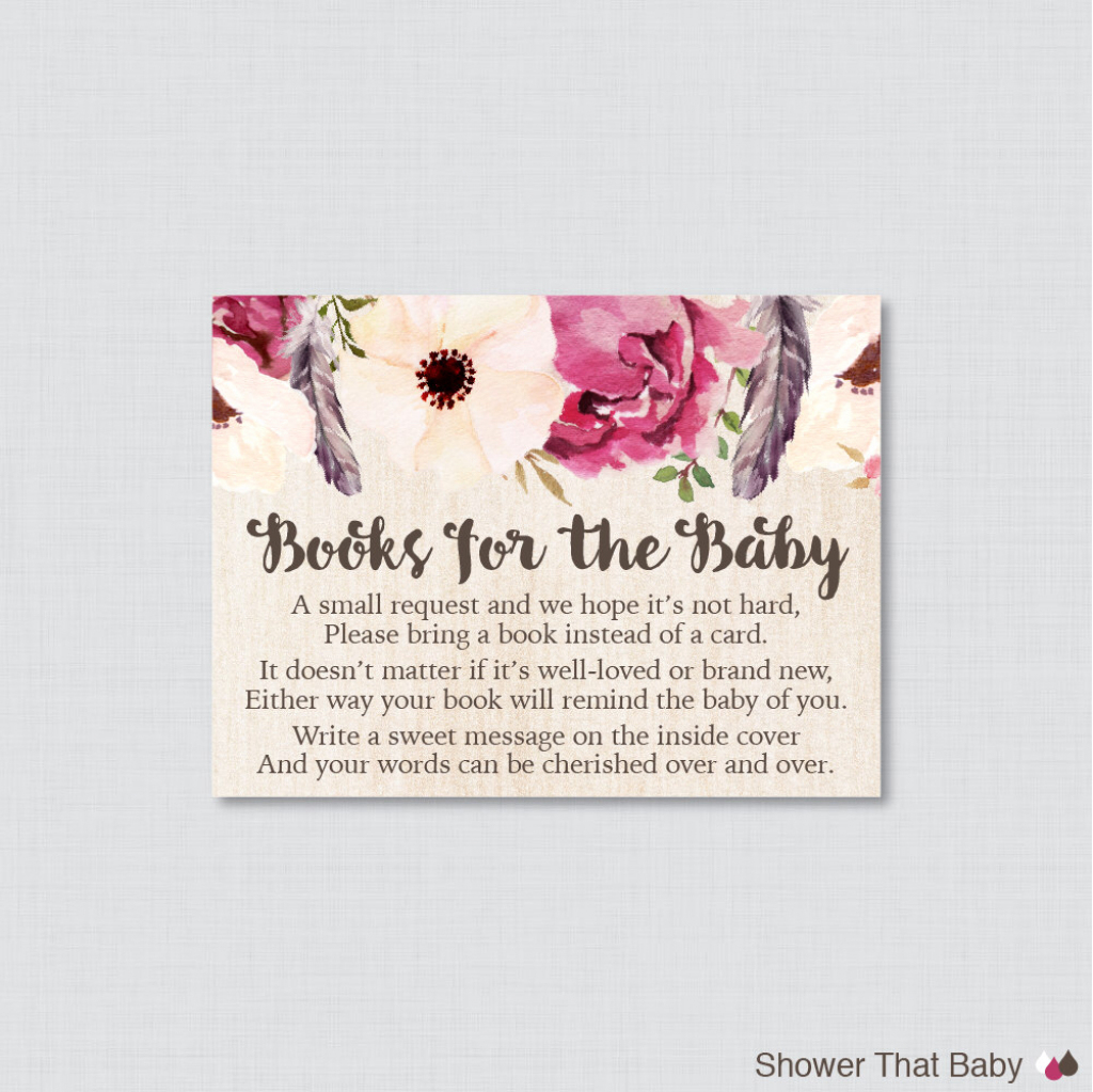 Baby Shower. Baby Shower Bring A Book Instead Of A Card: Little | Please Bring A Book Instead Of A Card Printable