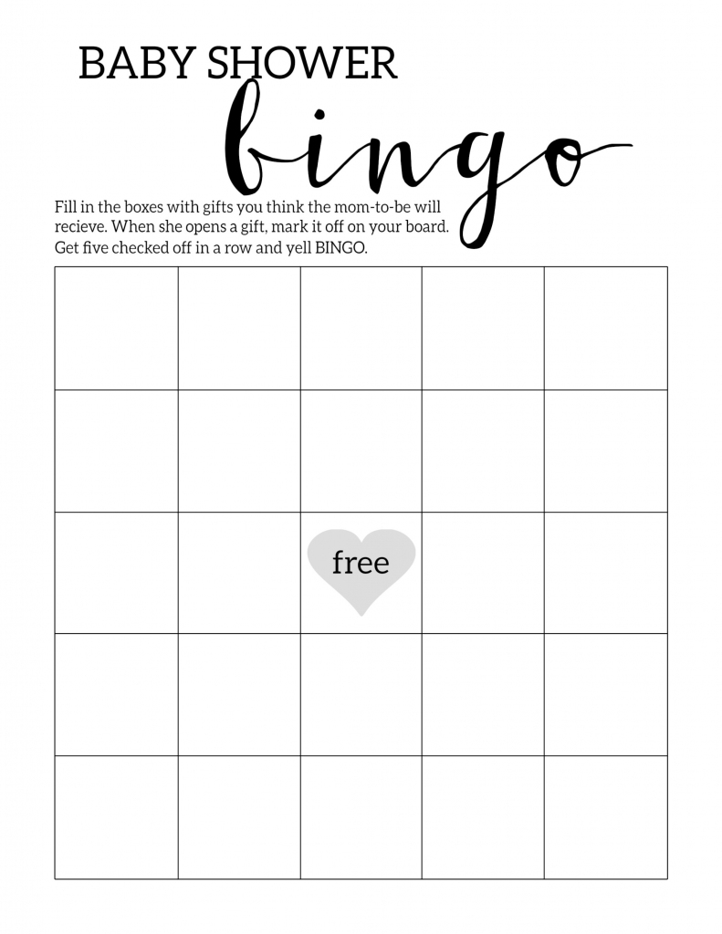 Baby Shower Bingo Printable Cards Template - Paper Trail Design | Printable Mothers Day Bingo Cards