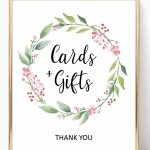 Baby Shower Cards And Gifts Sign Printable, Bridal Shower Gift Table | Cards And Gifts Printable Sign