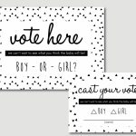 Baby Shower Decorations Gender Reveal Voting Cards Printable | Etsy | Printable Card Games Pdf