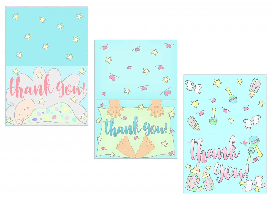 Baby Shower Thank You Cards Free Printable ~ Daydream Into Reality | Free Printable Baby Cards
