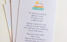 Bring A Book Instead Of A Card Free Printable