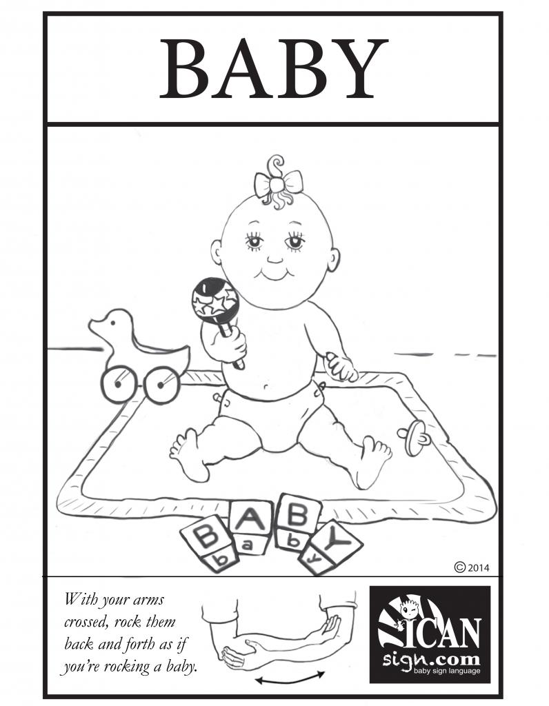 Baby Sign Language Flashcard: Baby – Free Printable Asl Flashcard | Printable Sign Language Flash Cards