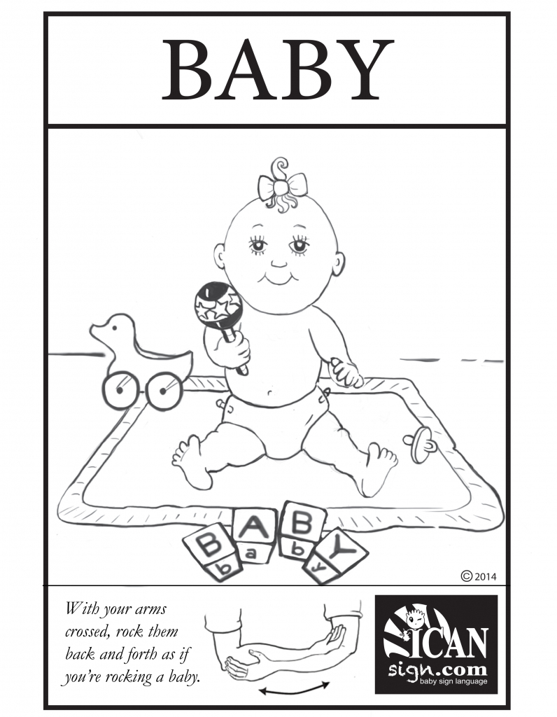 Baby Sign Language Flashcard: Baby – Free Printable Asl Flashcard | Sign Language Flash Cards Free Printable