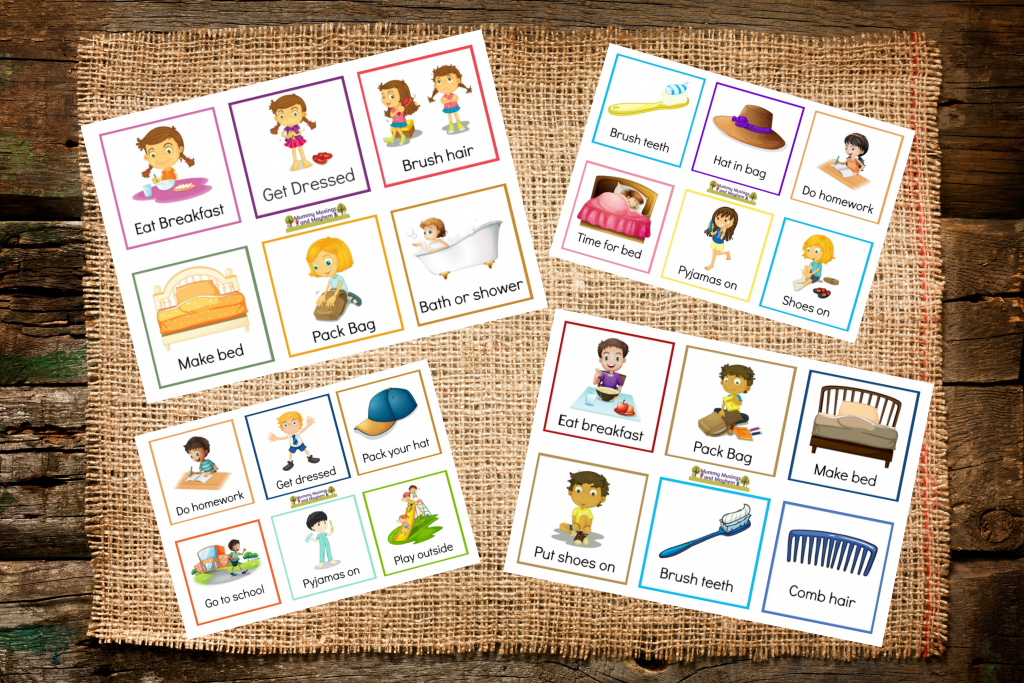 Back To School Routines - Free Printable Cards To Make It Easier | Free Printable Picture Cards