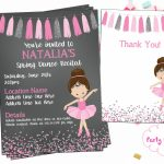 Ballet Recital Invitation Ballerina Dance Invitation Dance | Etsy | Free Printable Dance Recital Cards