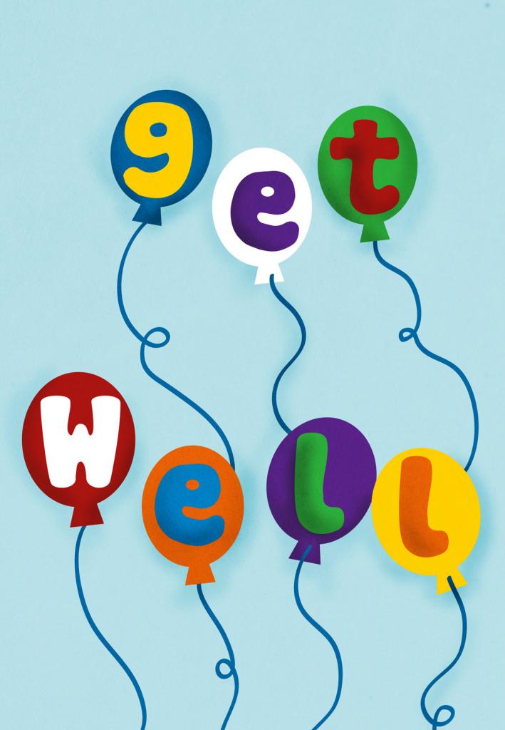 Balloons - Get Well Soon Card (Free)   Greetings Island   Get Well Soon Card Printable