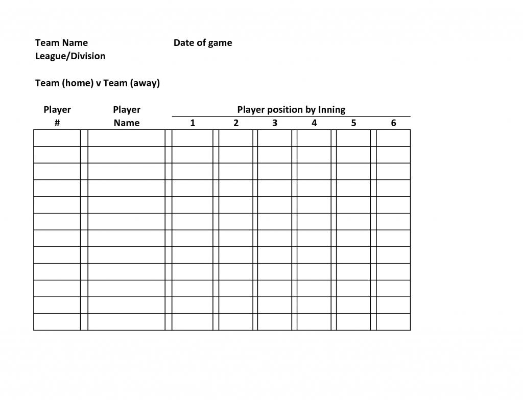 Baseball Lineup Card Template Resume Major League Excel Stock Photos | Printable Baseball Lineup Cards Excel