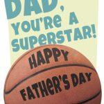 Basketball   Father's Day Card (Free) | Greetings Island | Free Printable Basketball Cards