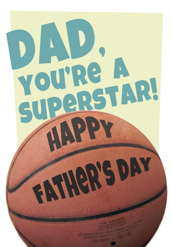 Basketball - Father's Day Card (Free) | Greetings Island | Free Printable Basketball Cards