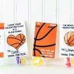 Basketball Valentine Card Free Printable | Free Printable Basketball Cards
