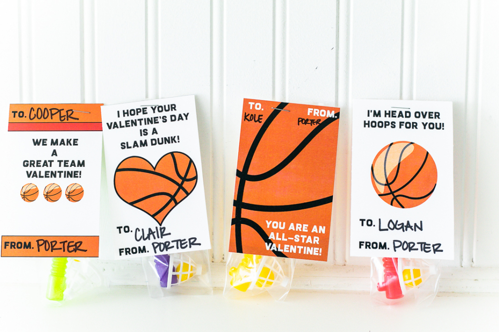Basketball Valentine Card Free Printable | Free Printable Basketball Cards