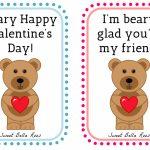Beary Happy Valentine's Day  Free Printable | Valentine's Day | Happy Valentines Day Cards Printable