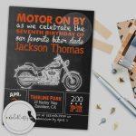 Beautiful Of Harley Davidson Birthday Invitations Baby Shower | Harley Davidson Cards Printable