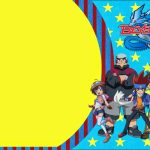 Beyblade: Free Printable Invitations.   Oh My Fiesta! For Geeks | Beyblade Birthday Card Printable