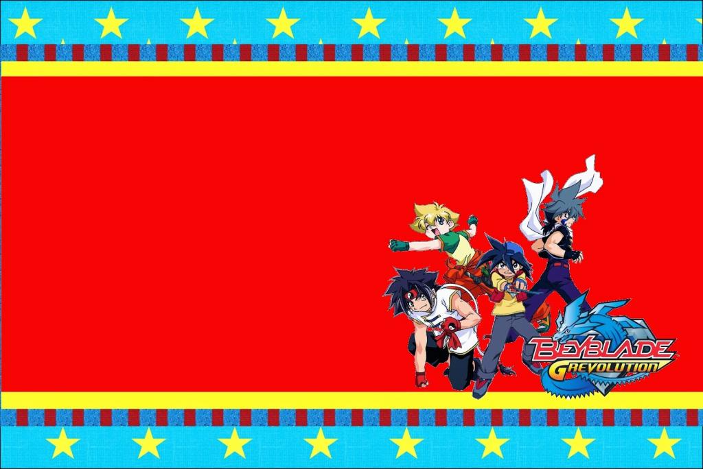Beyblade: Free Printable Invitations. - Oh My Fiesta! For Geeks | Beyblade Birthday Card Printable