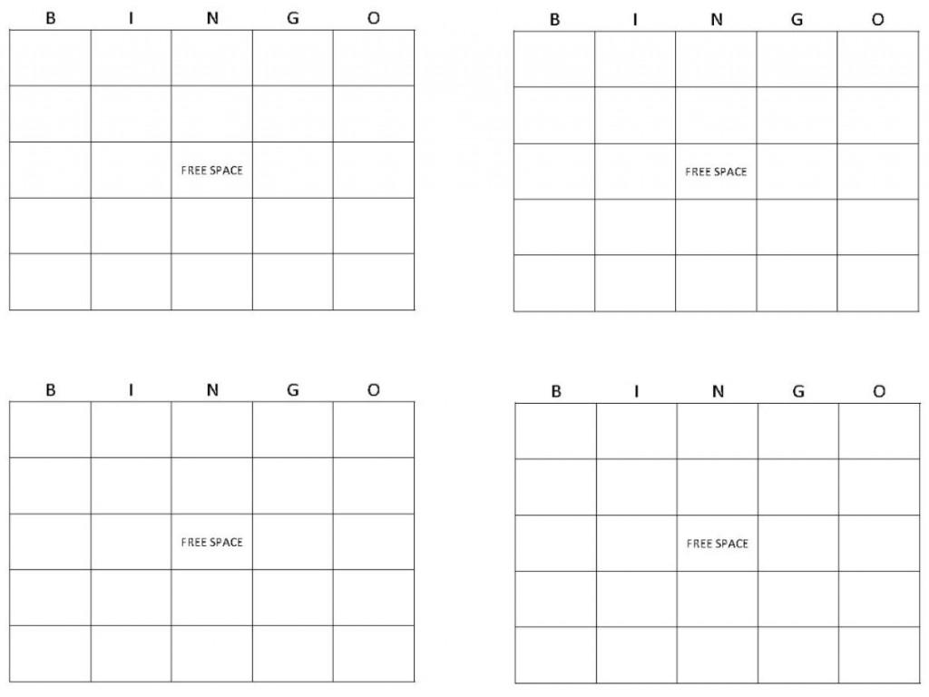 Bingo Card Template | Bingo Template | Printable Blank Bingo Cards