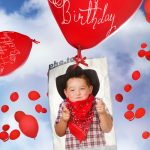 Birthday Card With Flying Balloons! Printable Photo Template | Printable Birthday Card Maker