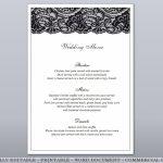 Black Lace Fully Editable Printable Menu & Free Place Cards | Etsy | Free Printable Damask Place Cards