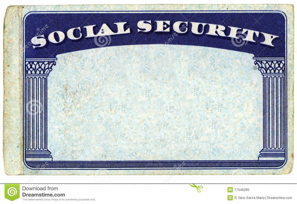 Blank American Social Security Card Stock Photo - Image Of Isolated | Printable Social Security Card Template