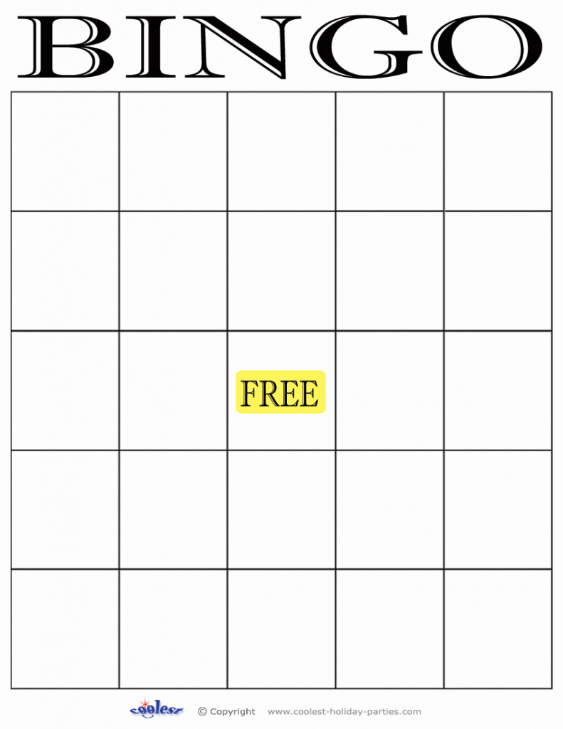 Blank Bingo Card Template | Cranfordchronicles | Free Printable Blank Bingo Cards