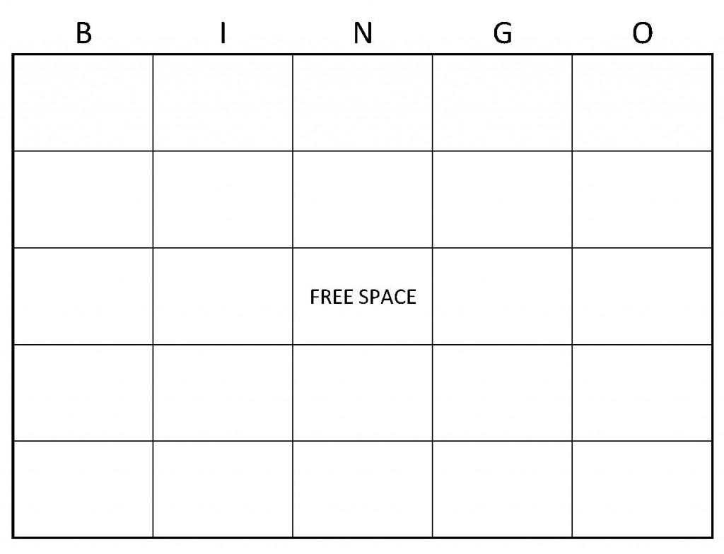 Blank Bingo Cards | Blank Bingo Card Template | Free Printable Blank Bingo Cards
