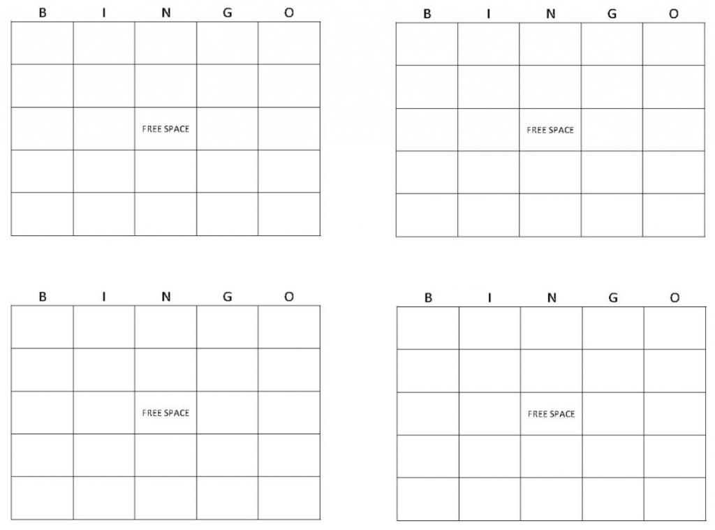 Blank Bingo Cards | Get Blank Bingo Cards Here | Printable Blank Bingo Cards