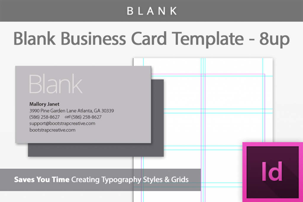 Blank Business Card Indesign Template | Free Printable Blank Business Cards