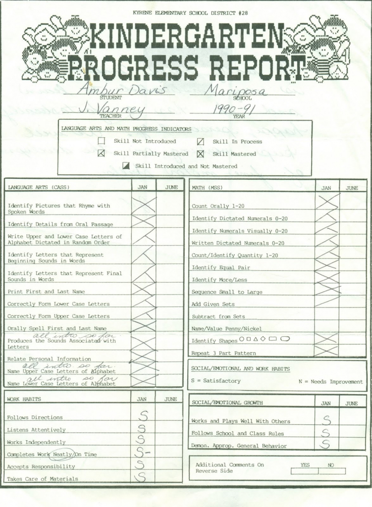 This is a picture of Playful Printable Report Card