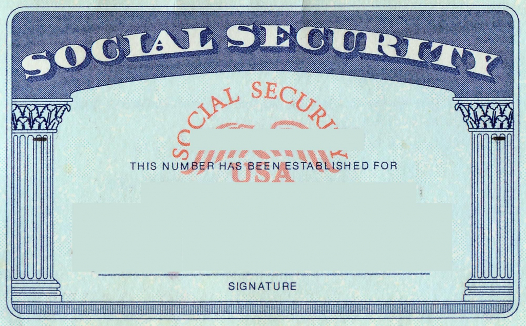 Blank Social Security Card Template | Social Security Card Print | Printable Social Security Card Template