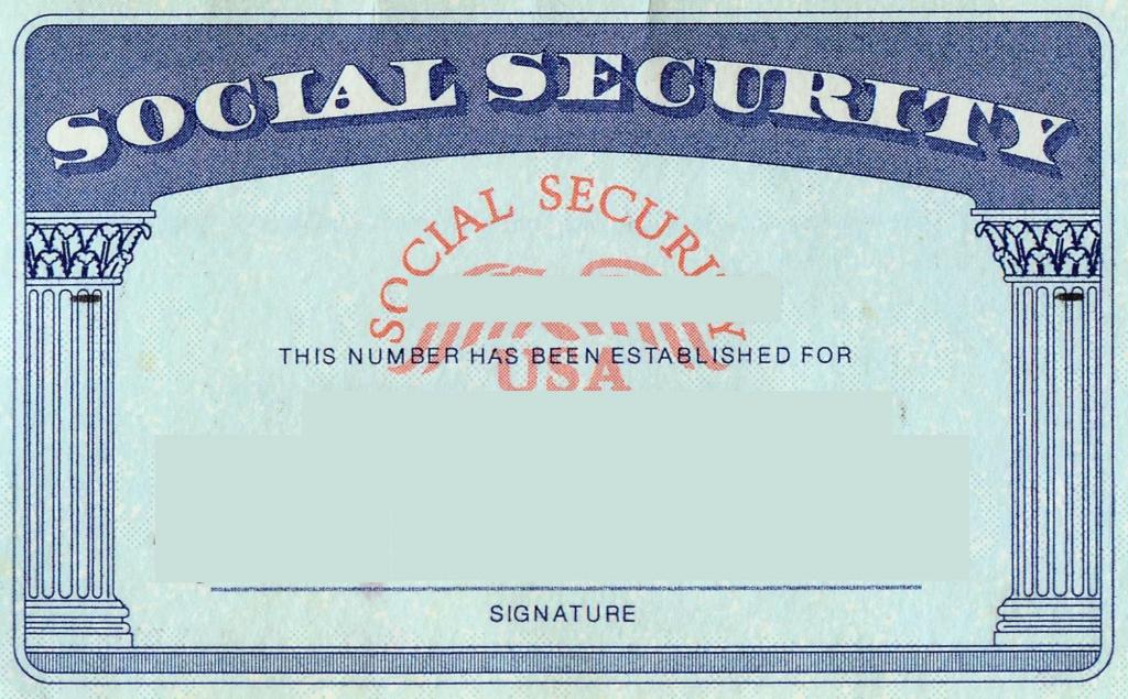 Blank Social Security Card Template | Social Security Card Print | Printable Social Security Card Template