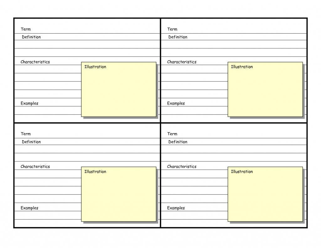 Blank Vocabulary Card Template   Frayer Models   Vocabulary Flash   Printable Blank Flash Cards Template
