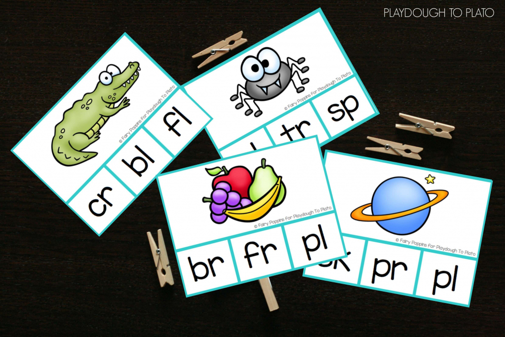 Blend Clip Cards - Playdough To Plato | Free Printable Blending Cards