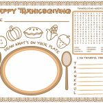 Blu Anchor: Free Thanksgiving Kids Activity Place Mat/activity Sheet | Printable Thanksgiving Place Cards For Kids