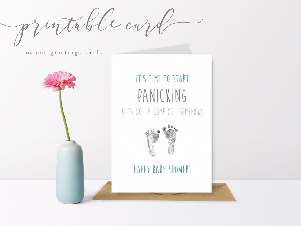 Blue & Grey Printable Baby Shower Panic Cards Pregnancy Mum To | Etsy | Printable Baby Shower Cards